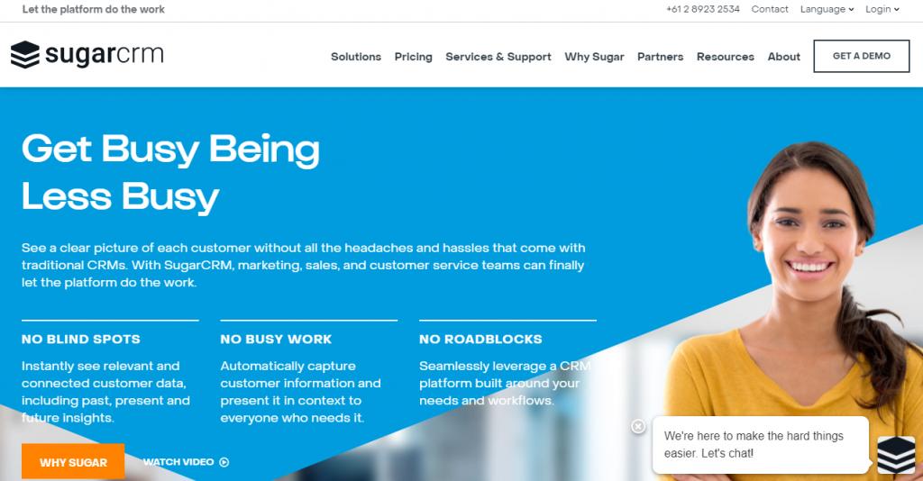 SugarCRM website