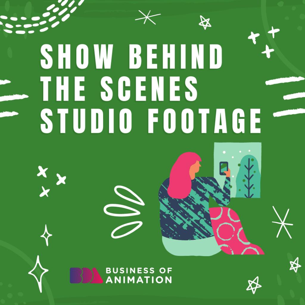 Show behind the scenes studio footage