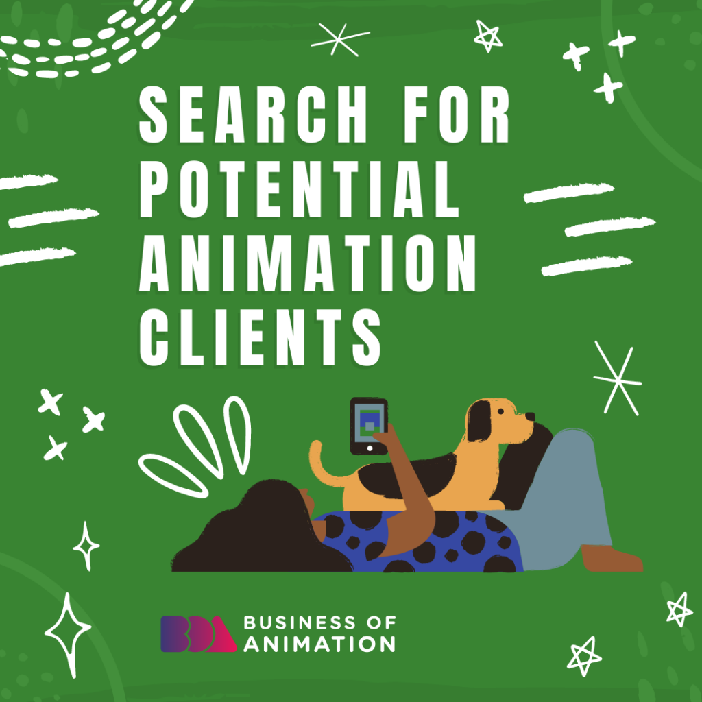 Search for potential animation clients