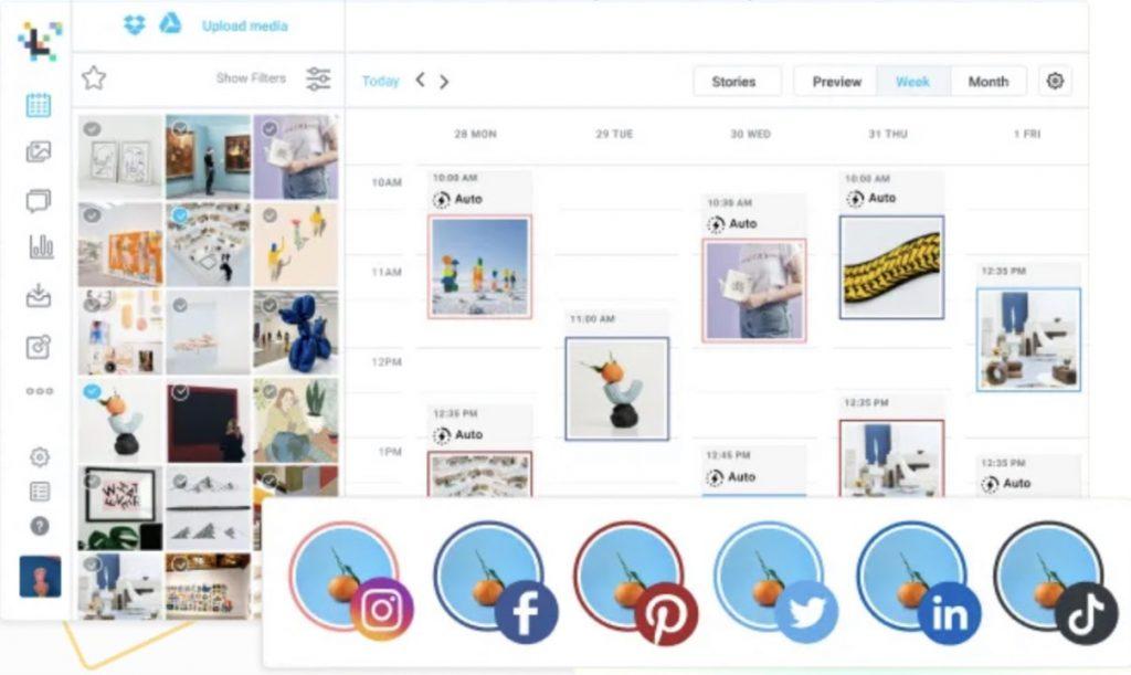 Later social media management tool