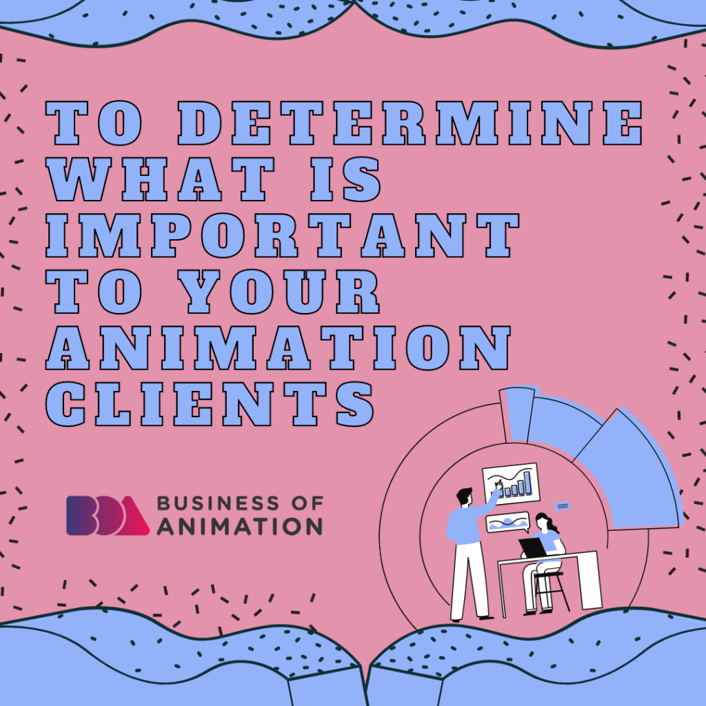 To determine what is important to your animation clients