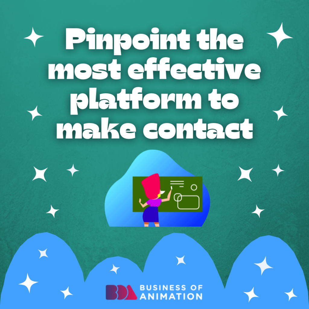 Pinpoint the most effective platform to make contact