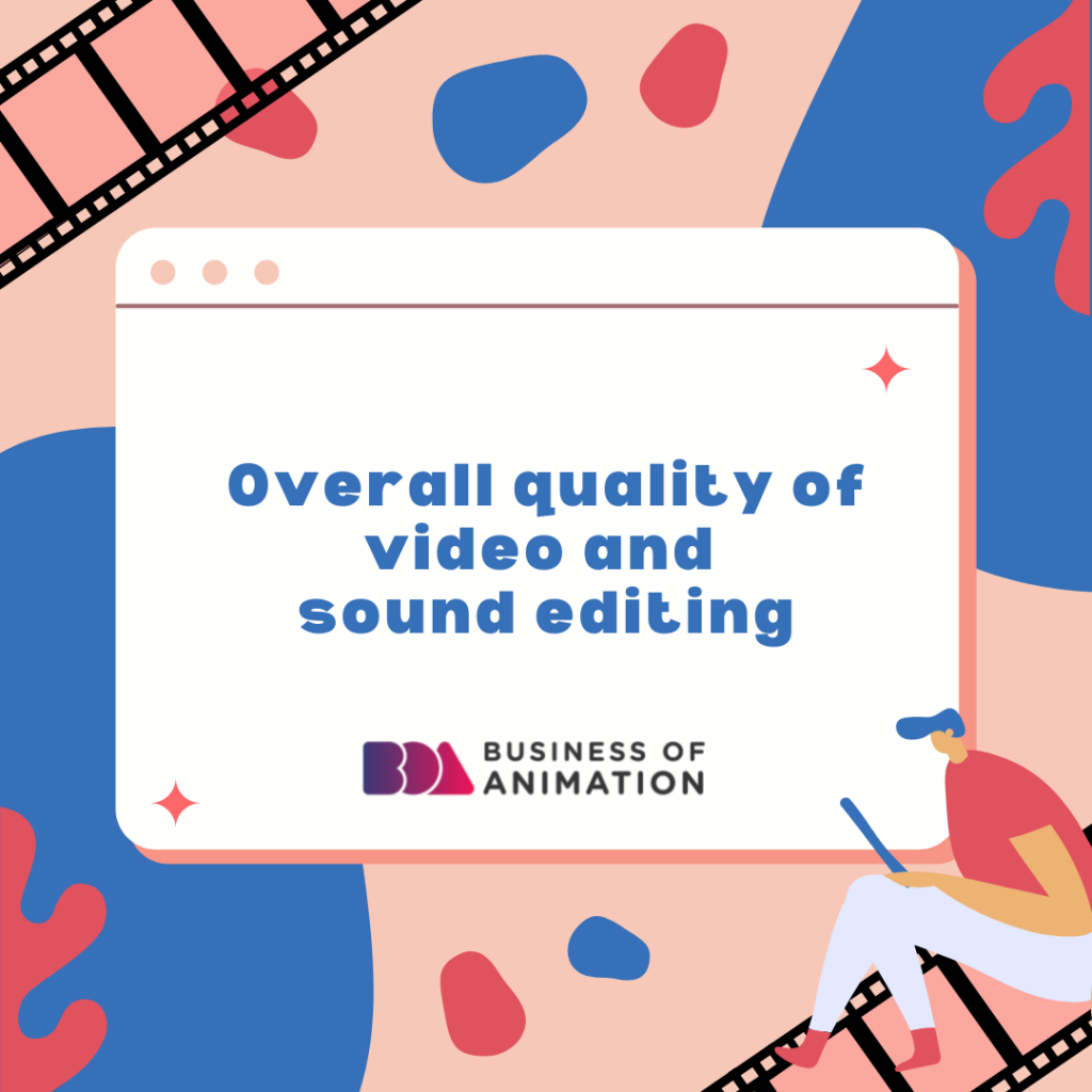 Overall quality of video and sound editing