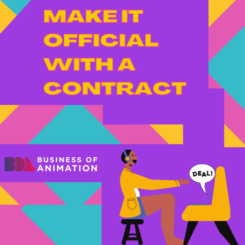 Make it official with a contract
